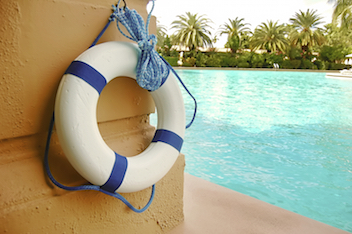 Bouy by the swimming pool