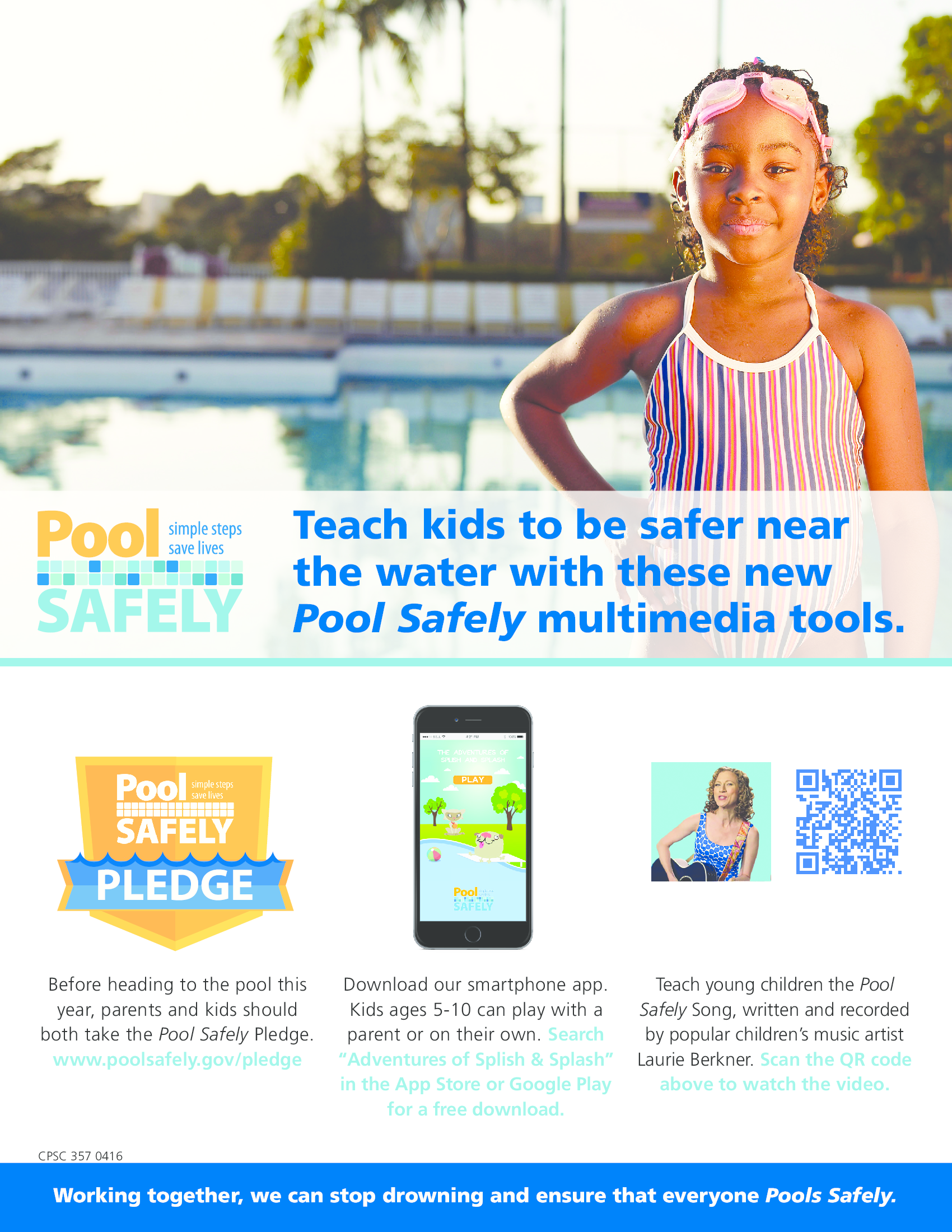 flyer with information about how to keep kids safer near the water.