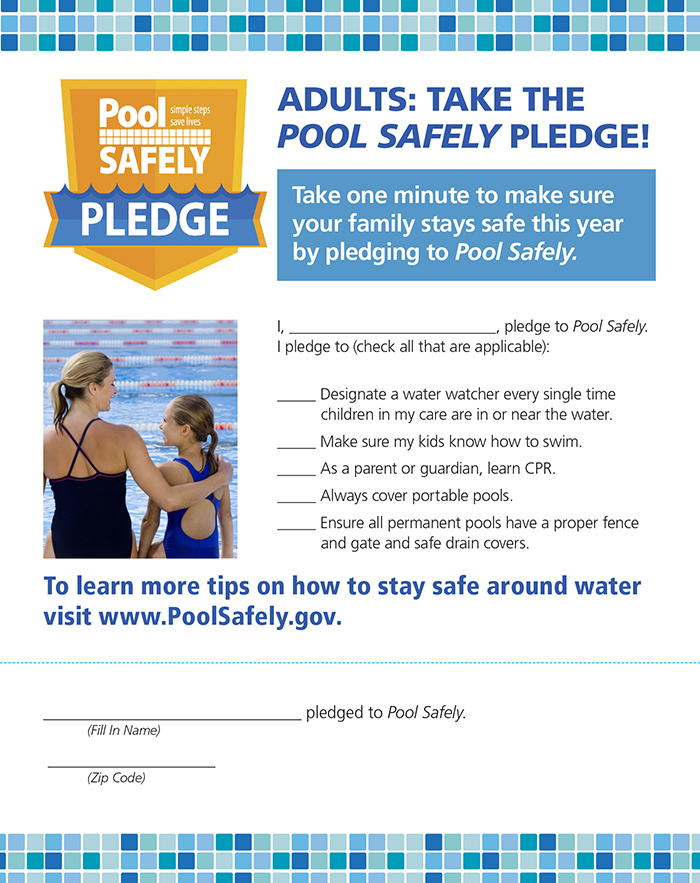 Adult pool safely pledge