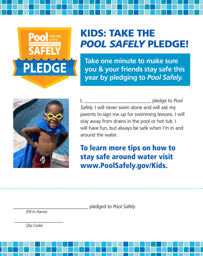Kids pool safely pledge