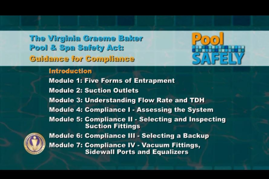 video screenshot outlining the 7 modules of compliance.
