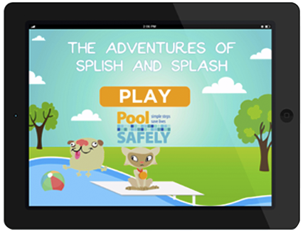 The adventures of Splish and Splash game on a ipad
