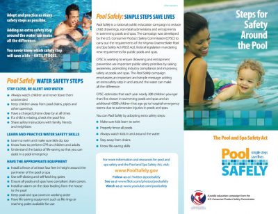 a preview of the pool safely brochure.