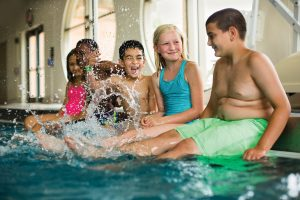Children participate in the YMCA's learn to swim programs.