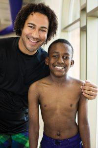 Children participate in the YMCA's learn to swim programs.