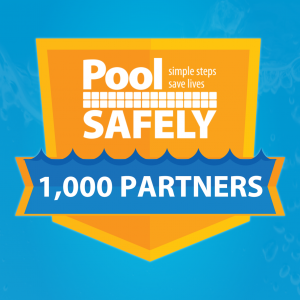 CPSC Pool Safely 1000 Partner Milestone Badge.