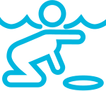 icon of person swimming