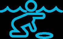 icon of person swimming