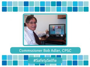 Commissioner Bob Adler's selfie with his pool safely pledge