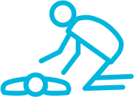 graphic of a person giving c.p.r.