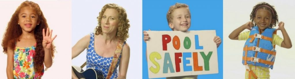 Kids from Laurie Berkner's Pool Safely music video