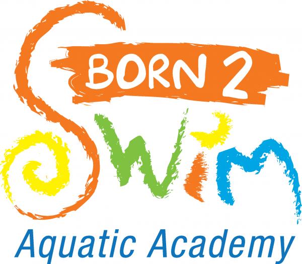 born to swim logo