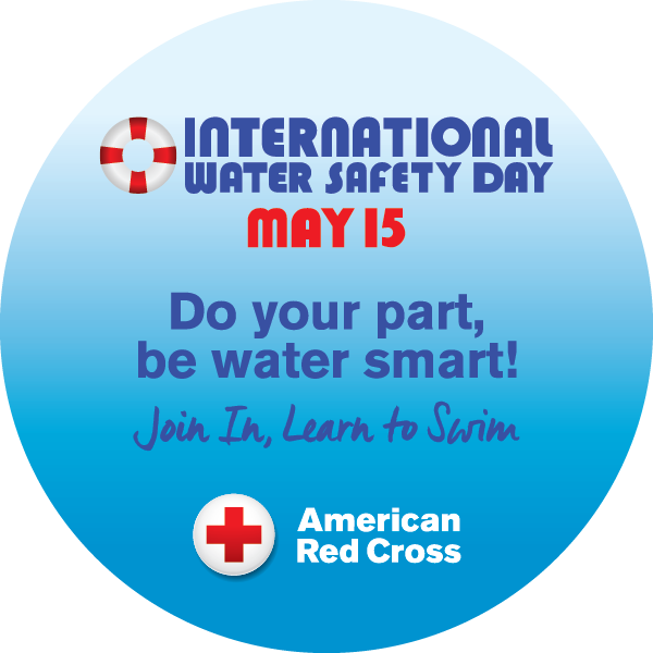 graphic for international water safety day on may 15.