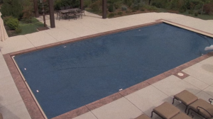 Cover over the pool
