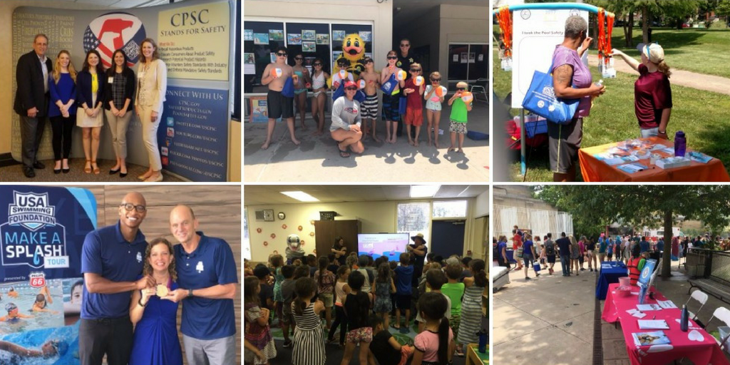 collage of partner events that took place in June.