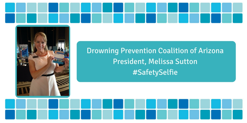 A card showing Melissa Sutton sharing her safety selfie