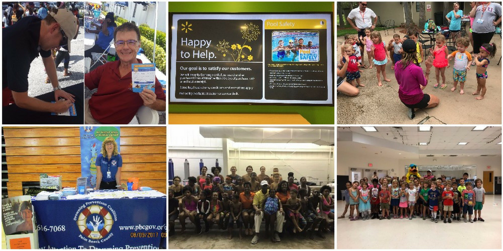 collage of events hosted by pool safely partners.