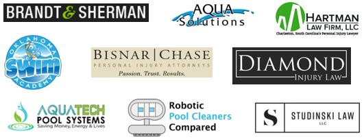 several logos of new pool safely partners.