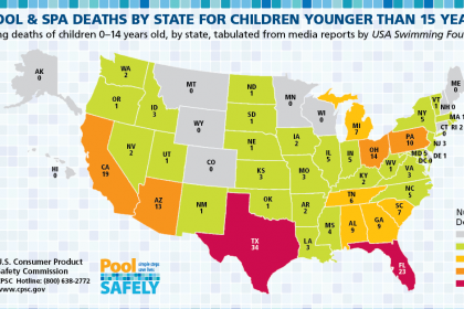 a map highlighting child deaths by state in 2019.