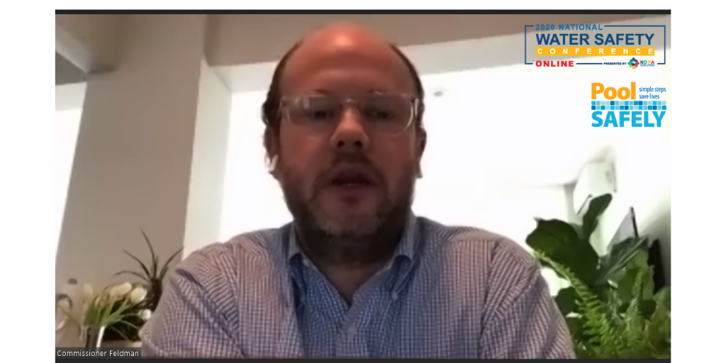 screenshot of a man talking on a video call.
