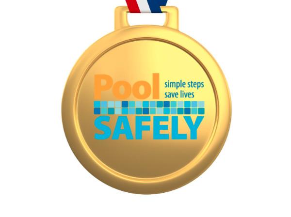 pool safely medal.